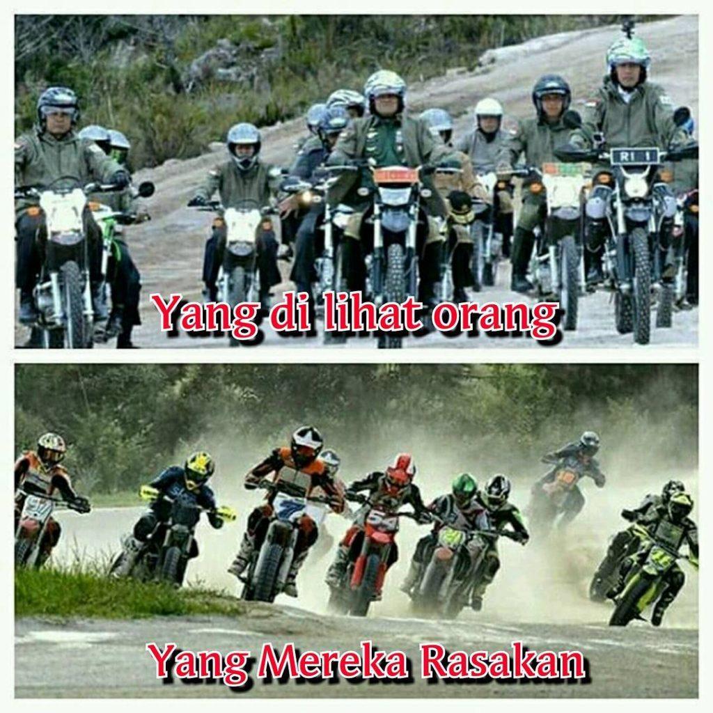 10 Meme Kocak Pak Jokowi Saat Maen Motor Trail Di Wamena