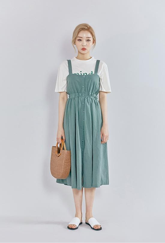 Kamu Suka Menggunakan Long Dress Mungkin Kamu Bisa Mengikuti Trend Fashion Korea Yang Populer