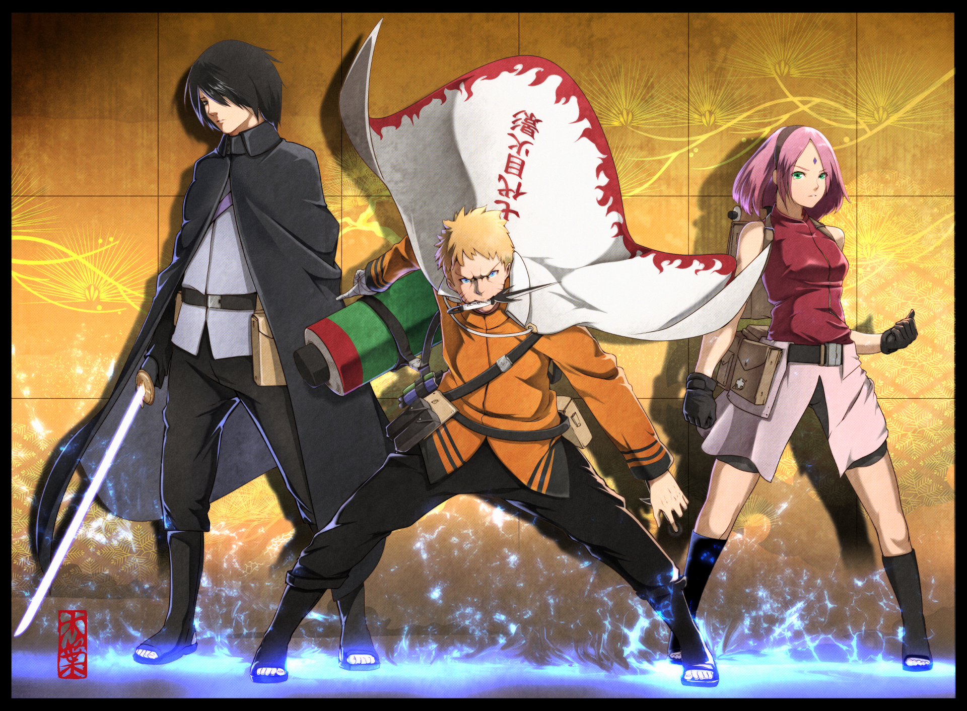 boruto walpaper naruto sakura sasuke battle mode