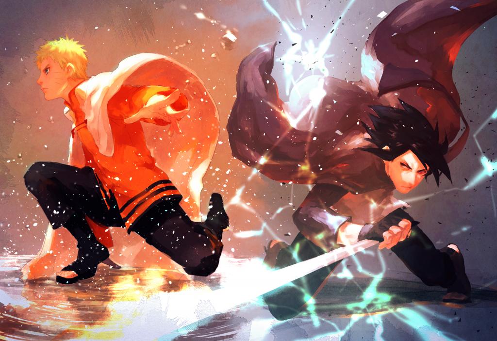 boruto walpaper naruto sasuke battle