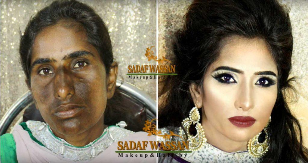 Wow!! Inilah Bukti Dari Kekuatan Makeup, Mengubah Penampilan Yang Biasa Menjadi Luar Biasa