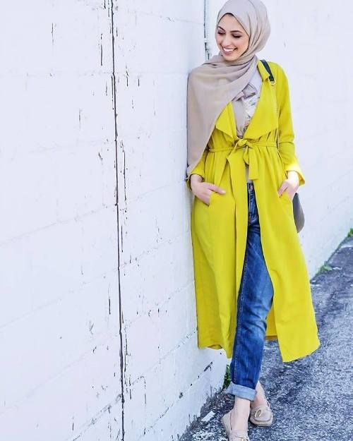 15. Busana Muslim Casual Dengan Hijab Polos fa18ccd2cb