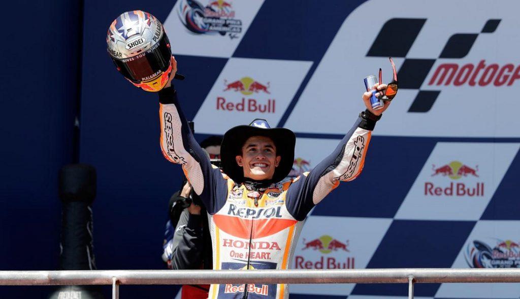 Juara Bertahan Marquez Menang Mudah di GP Amerika Valentino Rossi di Posisi ke Empat