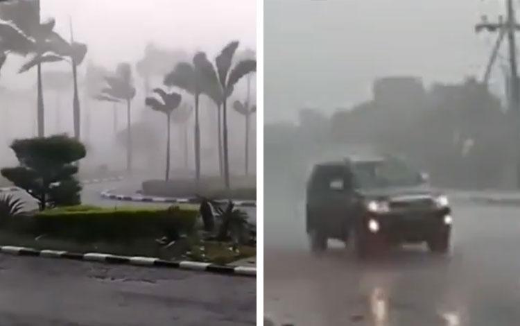 Hujan Badai di Jakabaring Palembang