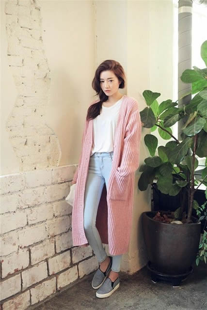 Hasil gambar untuk style korea dengan cardi