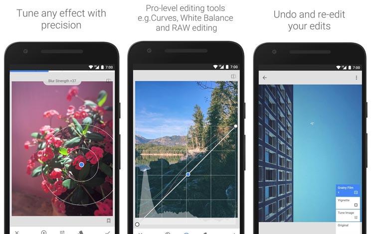 Snapseed - Aplikasi edit foto Android terpopuler 2018