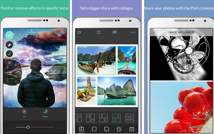 Pixlr - Aplikasi edit foto Android terpopuler 2018