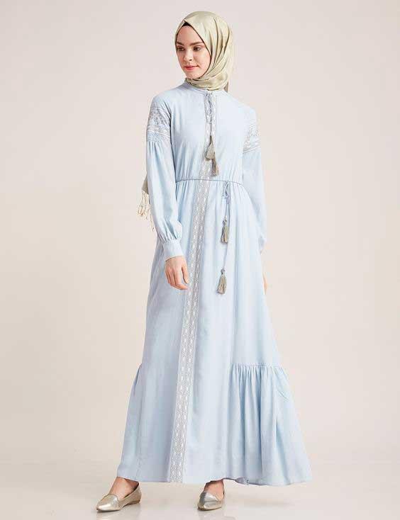 Gamis Warna Pastel - Model Baju Gamis Terbaru dan Terpopuler