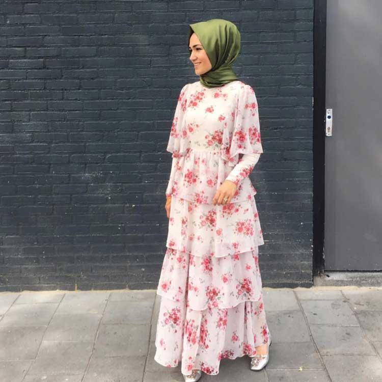 Gamis Motif Bunga - Model Baju Gamis Terbaru dan Terpopuler