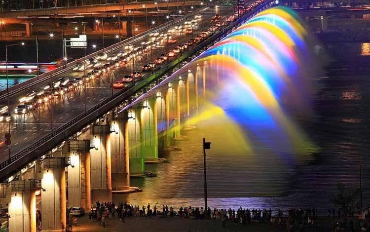 Jembatan Terindah Di Dunia - Jembatan Banpo