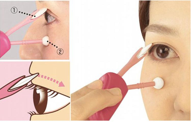 Produk Kecantikan Yang Aneh - Futae Compass Make Up Eyelid Brush