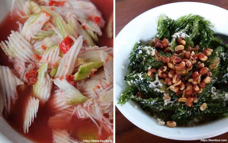 Makanan dan Minuman Khas Bali - Rujak Kuah Pindang dan Rujak Bulung