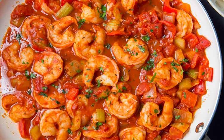 Daftar Makanan Terpedas Di Dunia - Shrimp Creole