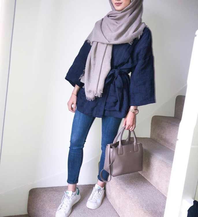 Trend Baju Muslim 2019 - Hijab Warna Galaxi