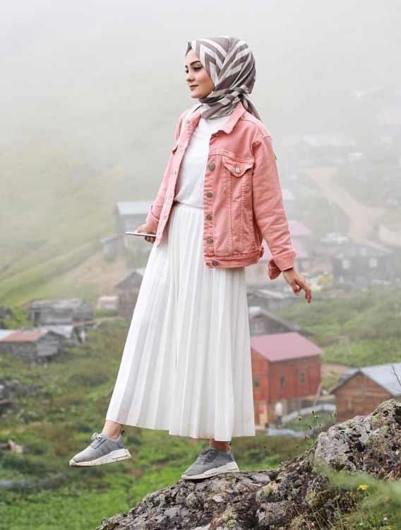 Trend Baju Muslim 2019 - Hijab dengan rok maxi atau maxi dress