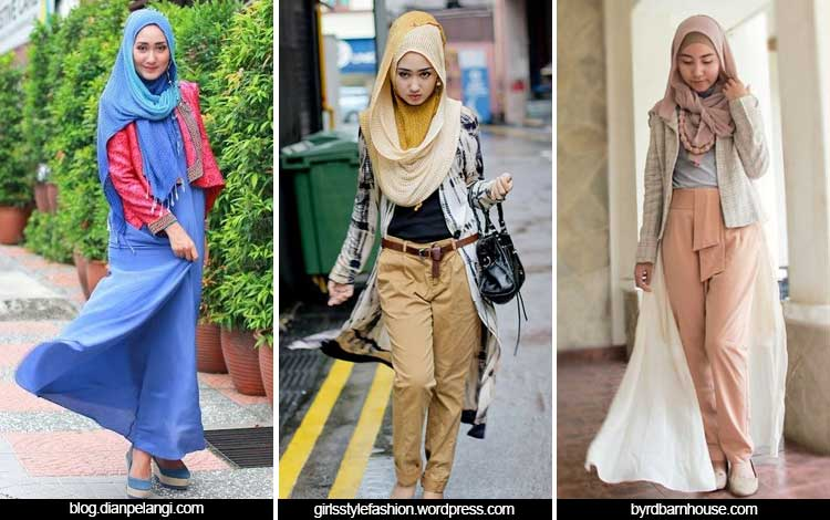 Trend Fashion Wanita 2019 - Hijab layering