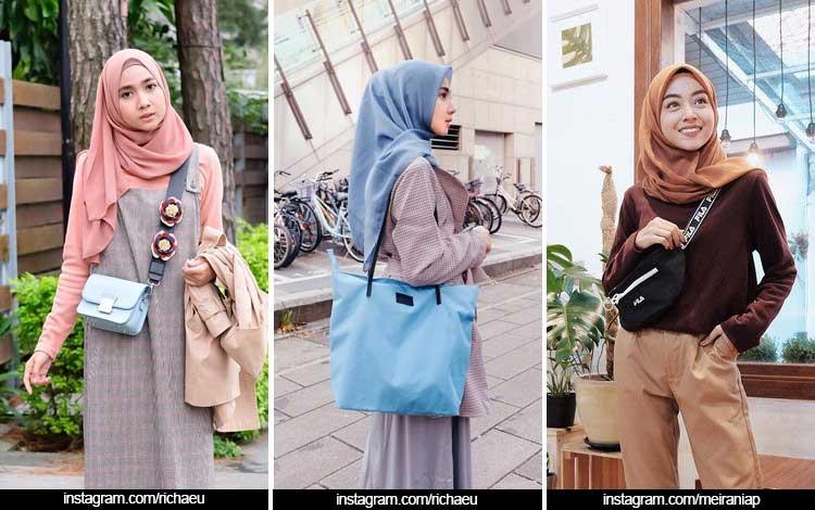Trend Fashion Wanita 2019 - Hijab polos segi empat