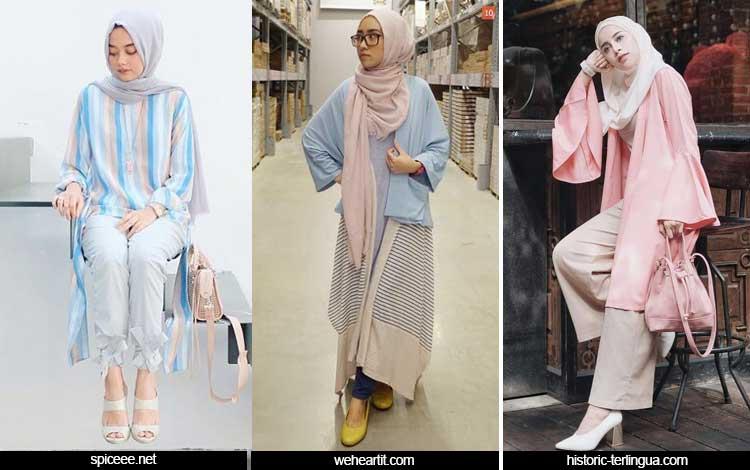 Trend Fashion Wanita 2019 - Hijab warna pastel