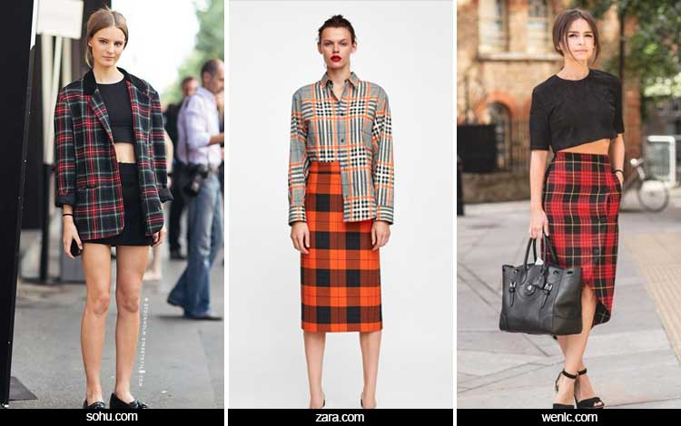 Trend Fashion 2019 - Motif tartan