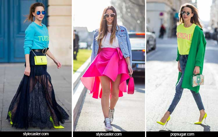 Trend Fashion Wanita 2019 - Warna-warna neon
