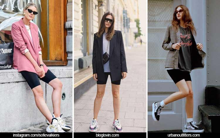 Trend Fashion 2019 - bike shorts dengan blazer