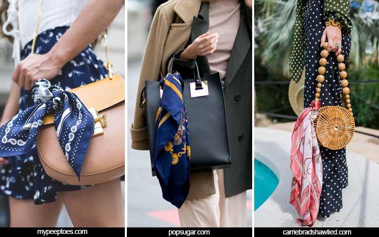 Trend Aksesoris 2019 - Printed Scarves on Bags