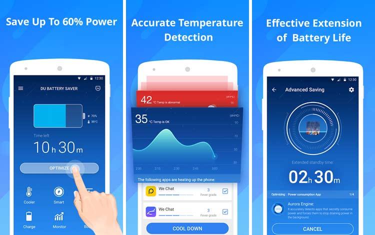 Daftar Aplikasi Android Penyedot Baterai Terboros DU Battery Saver