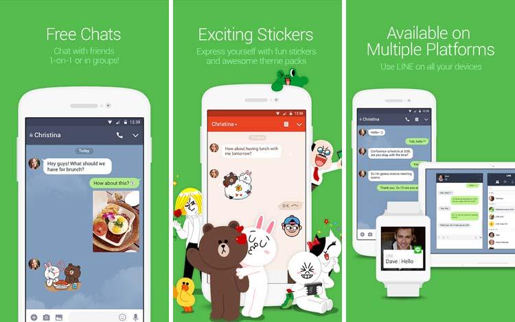 Daftar Aplikasi Android Penyedot Baterai Terboros Line Free Call & Messenger