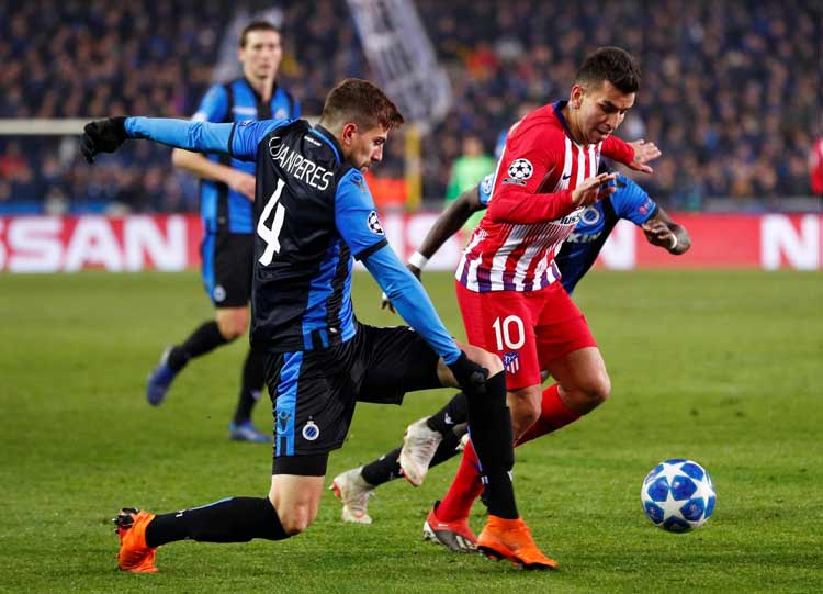 Hasil Liga Champion Eropa Pekan ke 6 Penyisihan Grup Club Brugge 0-0 Atlético Madrid