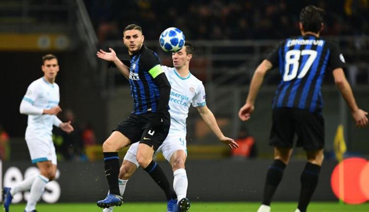 Hasil Liga Champion Eropa Pekan ke 6 Penyisihan Grup Inter Milan 1-1 PSV Eindhoven