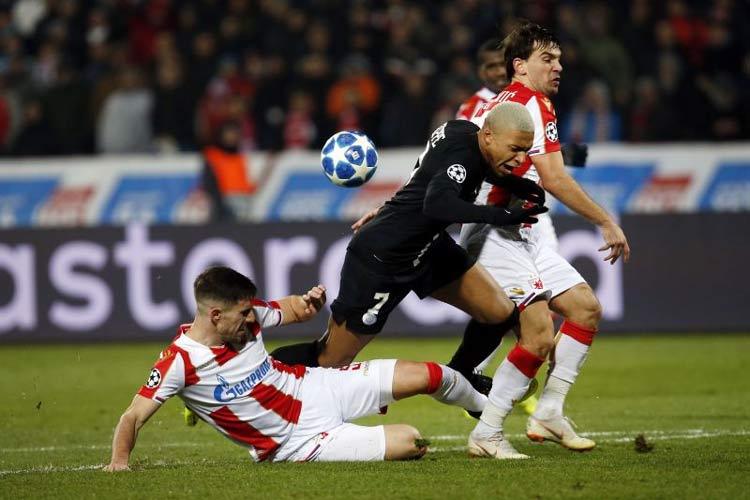 Hasil Liga Champion Eropa Pekan ke 6 Penyisihan Grup Red Star Belgrade 1-4 PSG