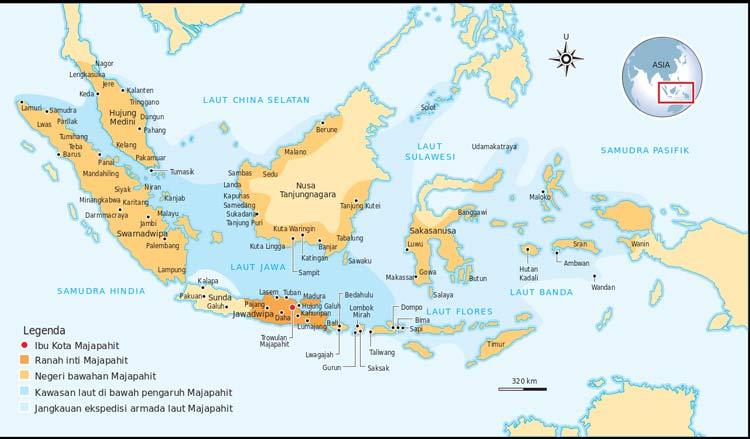 Berbagai Kejayaan yg Diraih Pada Masa Kejayaan Majapahit Wilayah Kerajaan yang luas seluas Indonesia sekarang