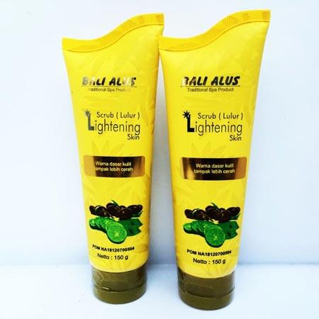 Merk Body Scrub Yang Bagus - Bali Alus Scrub Lightening