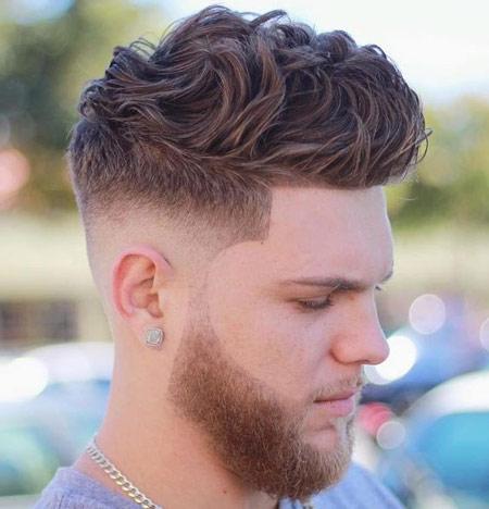 Gaya Rambut Hits Pria Yang Akan Booming Di Tahun 2019 - Thick Curly Hair Fade