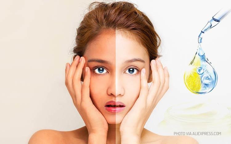 Krim pemutih wajah yang aman dan bersertifikat BPOM