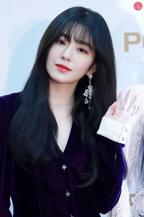 Gaya Rambut Idol Kpop Wanita Yang Trend - See Through Bangs