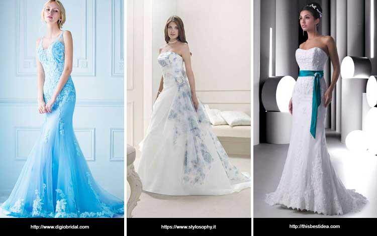 Trend Gaun Pengantin 2019 - Blue Dress