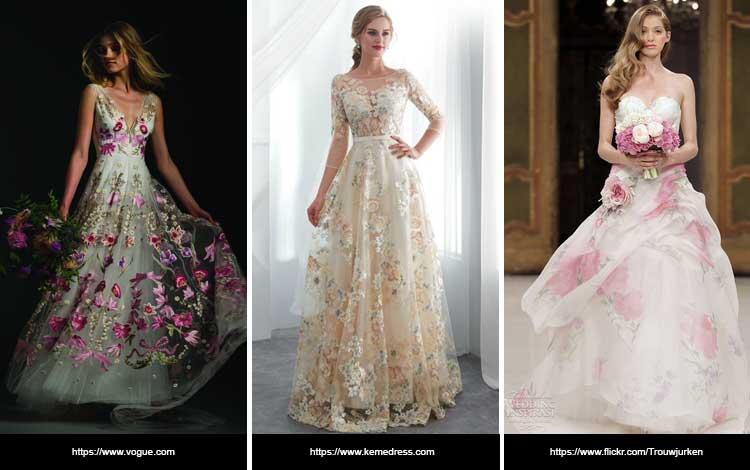 Trend Gaun Pengantin 2019 - Floral Redux