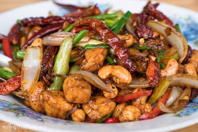 Kuliner khas Thailand - Kai Med Ma Muang (Chicken with Cashew Nuts)