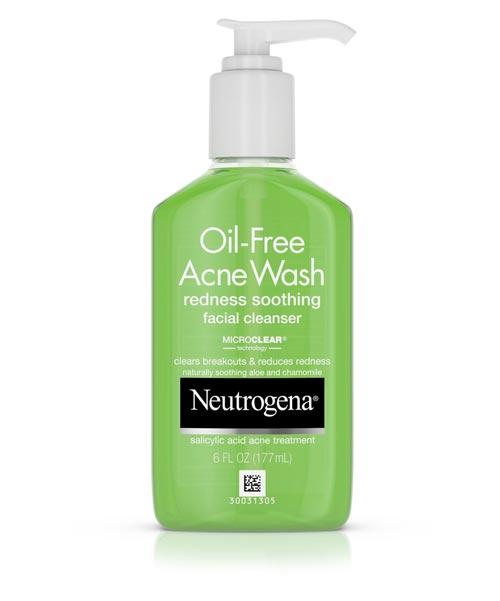 Merk Cleanser Yang Bagus Untuk Kulit Berjerawat - Neutrogena Oil-Free Acne Wash Redness Soothing Facial Cleanser