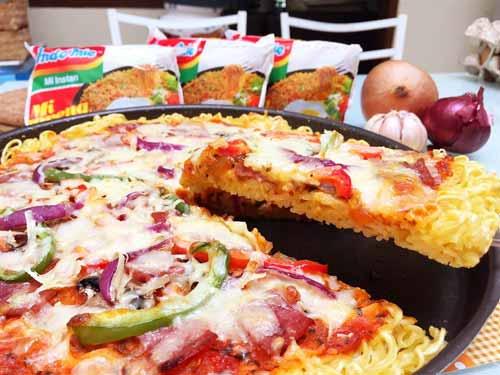 Aneka Kreasi Indomie Yang Enak Dan Unik - Pizza Indomie