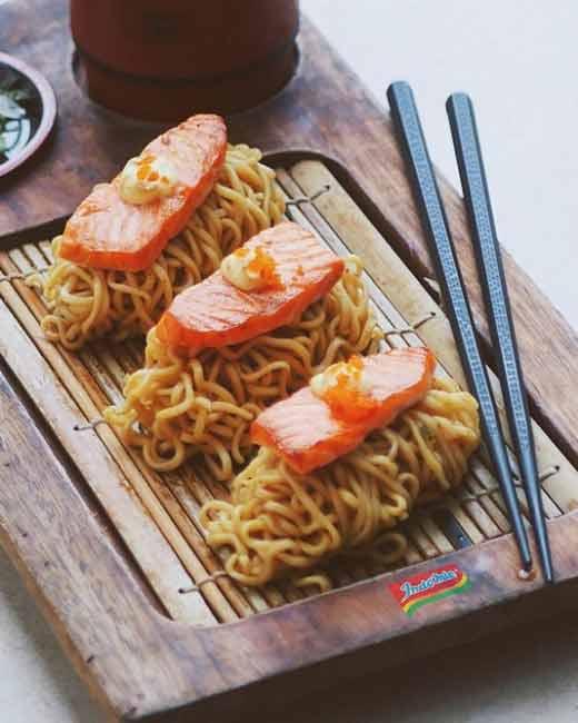 Aneka Kreasi Indomie Yang Enak Dan Unik - Sashimi Indomie