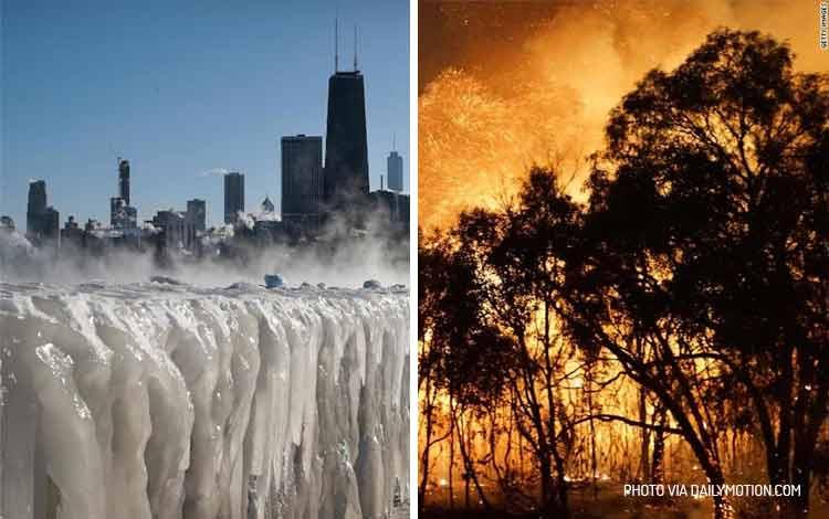 Cuaca ekstrim di Amerika dan Australia