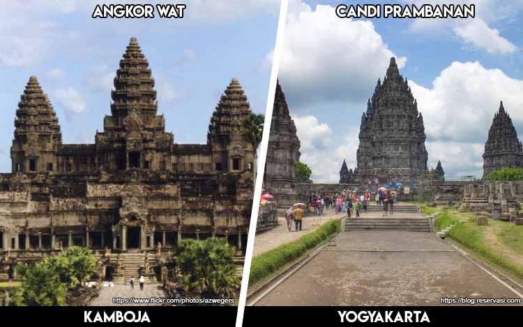 Tempat Wisata Di Indonesia Yang Mirip - Angkor Wat dan Candi Prambanan