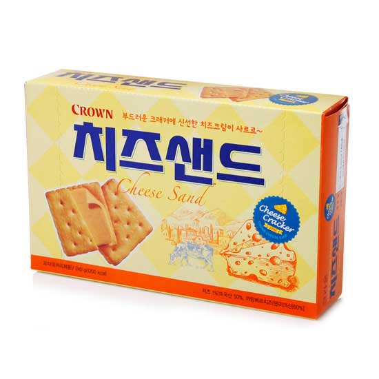 Snack Korea Yang Ada Di Indonesia - Cham Crackers Saltine Biscuit Cheese Sand