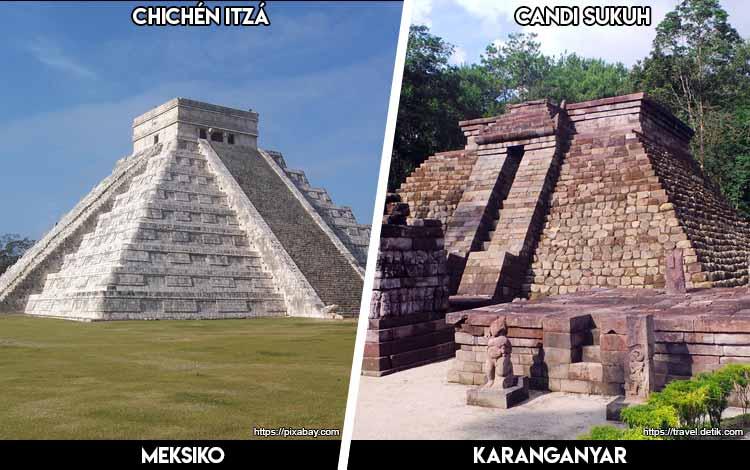 Tempat Wisata Di Indonesia Yang Mirip - Piramida Chichén Itzá dan Candi Sukuh