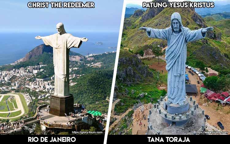 Tempat Wisata Di Indonesia Yang Mirip - Christ the Redeemer dan Patung Yesus