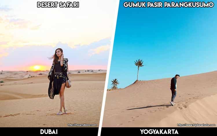 Tempat Wisata Di Indonesia Yang Mirip - Desert Safari Dubai dan Gumuk Pasir Parangkusumo