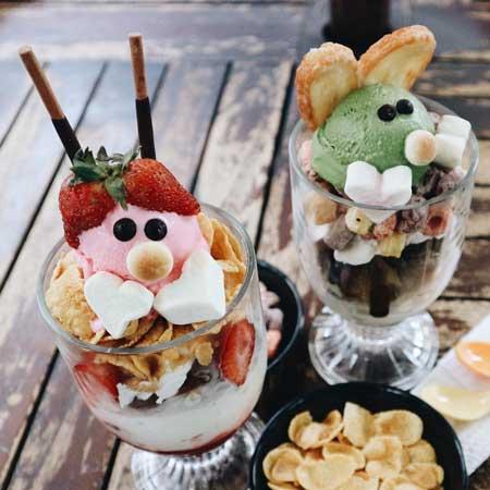 Tempat Makan Es Krim Yang Enak Di Bandung - Green Tea Holic