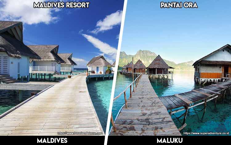Tempat Wisata Di Indonesia Yang Mirip - Maldives dan Pantai Ora